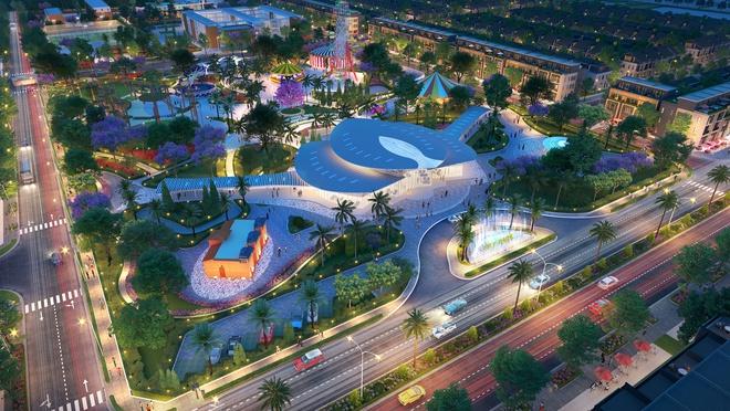 Công viên trung tâm Sky Park, trái tim của khu đô thị Gem Sky World