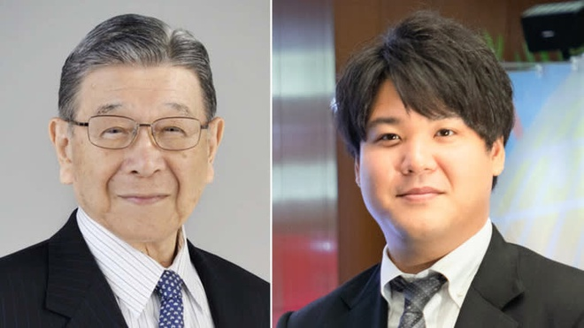 Ông Shintaro Tsuji (bên trái) và cháu trai Tomokuni Tsuji (bên phải). Ảnh: Sanrio.