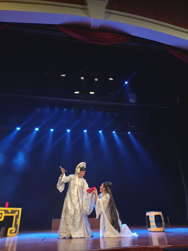 Buổi báo cáo tiết mục dự thi giải Trần Hữu Trang 2020 của Nhà hát.