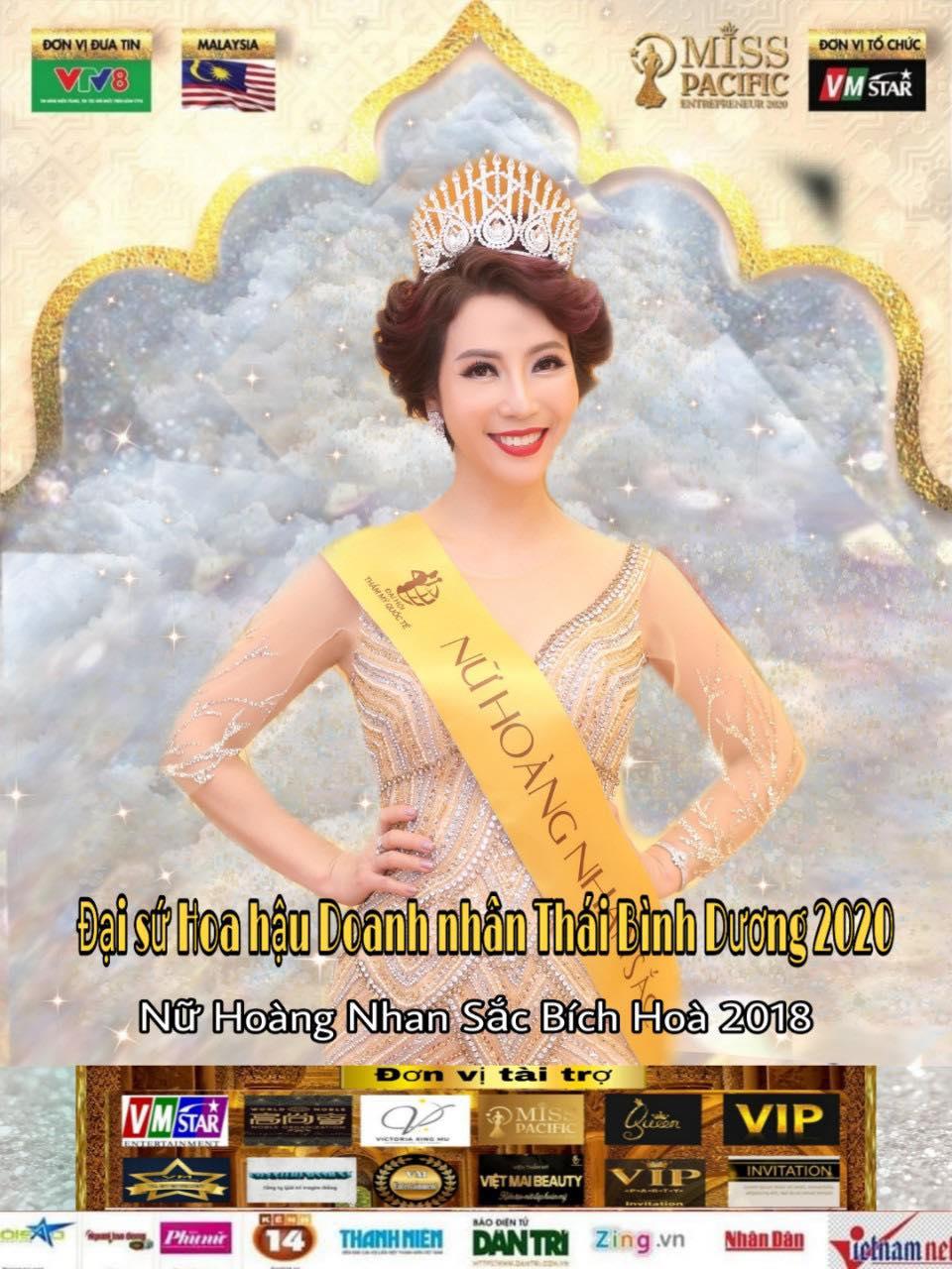 Chủ nhân Thẩm mỹ viện Bích Hòa vinh dự là Đại sứ Hoa hậu Doanh nhân Thái Bình Dương 2020
