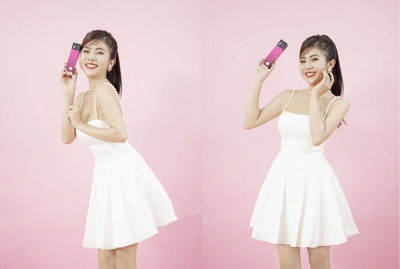 Minh Sương trong bộ ảnh quảng bá cho thương hiệu mỹ phẩm Bora