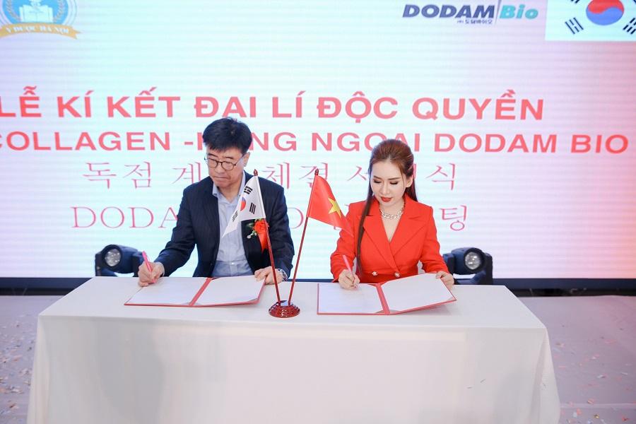 Cô đã từng ký kết hợp tác cùng các thương hiệu Hàn Quốc, Nga. Mỹ, Pháp. Mang công nghệ độc quyền mới nhất về thẩm mỹ viện của mình.