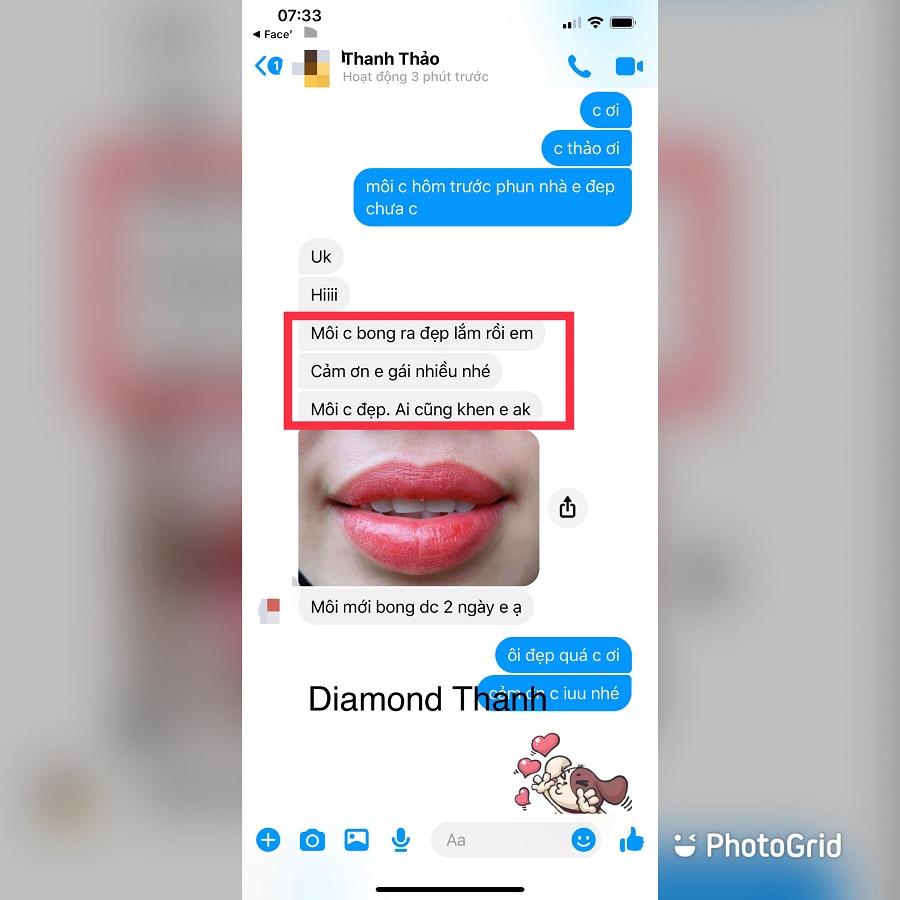 Feedback của khách hàng tại Diamond Thanh