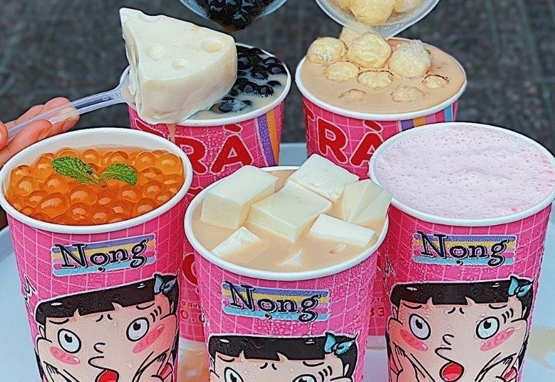 hương hiệu trà sữa Nọng luôn có sự đầu tư về thiết kế và chú trọng xu hướng của giới trẻ.