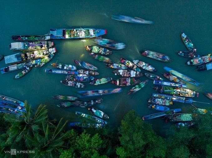 Ngắm nhìn vẻ đẹp của miền Tây sông nước từ trên cao