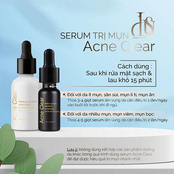 Sản phẩm đặc trị mụn của Acne Clear
